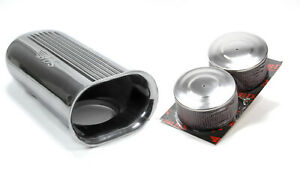 Polished Aluminum Dual Carb Scoop W air Filters
