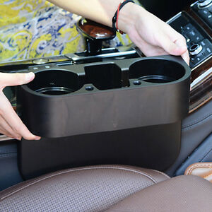 Seat Seam Wedge Drink Cup Holder Travel Mount Stand Black Storage For Car Truck