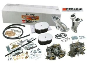 Genuine Redline Dual Weber 40 Idf Carb Kit For Vw Beetle Bus Thing Free Ship