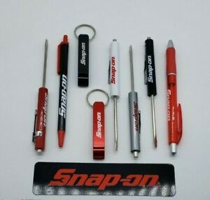 8 Snap On Tools Mix Drivers Per Order Silver Red Black White 2 Pens 2 Keychains