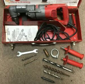 Milwaukee 1 2 Right Angle Drill Cat No 1001 With Metal Case