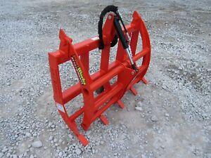 48 Compact Tractor Root Rake Clam Grapple Fits Kubota Kioti Quick Attach Loader
