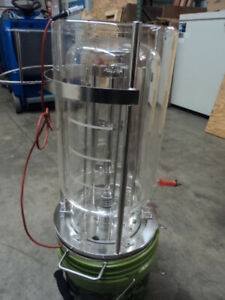 8l Jacketed Filter Reactor Jacketed Chemical Reactor Glass Reaction Vessel