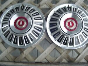 2 Vintage 1967 68 69 70 71 72 Ford Galaxie Ltd Pickup Truck Hubcaps Wheel Covers