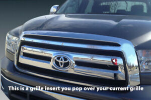 Fits 2010 2013 Toyota Tundra Chrome Grille Insert Grill Overlay Trim Sr5 Base