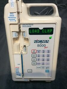 Sigma 8000 Plus Infusion Pump Working