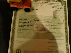 1963 Chevrolet Impala Body Paperwork Document Original Clean And Clear