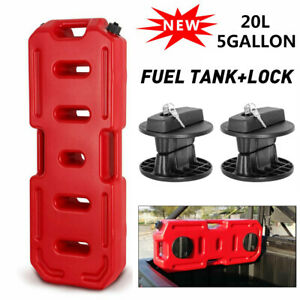 20l Fuel Gas Tank Oil Petrol Storage Jerry Can Container Lock For Jeep Atv Suv