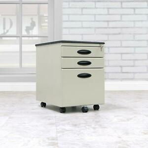 Filing Cabinet Home Office File Storage Metal Locking Drawers Movable Casters
