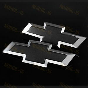 For 2016 2019 Gm Chevy Silverado 1500 Black Front Tailgate Bow Tie Emblem