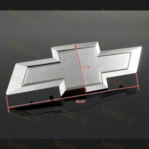 For 2014 2015 Gm Chevy Silverado Silver Front Grill Bowtie Emblem