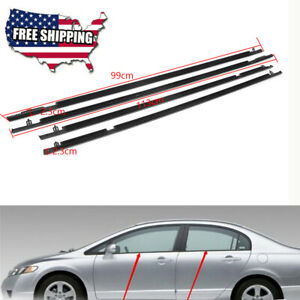Car Outside Window Modified Weatherstrip Seal Belt 72460 sna a01 For Honda Civic