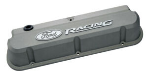 Proform 302 137 Natural Gray Slant Edge Valve Covers Sbf Tall Cast Aluminum