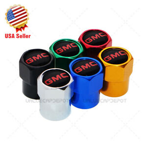 Hex Gmc Logo Emblem Car Wheels Tire Air Valve Caps Stem Dust Cover Sport