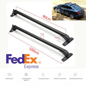 Us Shipping Suv Car Roof Rack Rails Bars Luggage Bicycle Carrier Anti theft Lock
