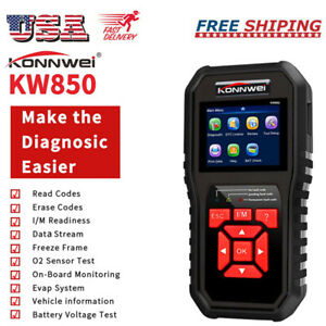 Konnwei Kw850 Obd2 Car Scanner Auto Diagnostic Tool Obd ii Code Reader Usa B4c4