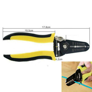 Wire Striper Cable Striper Cutter Stripper Crimper Pliers Pro Electrical Tools