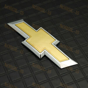 For 2014 2018 Chevy Chevrolet Impala Rear Trunk Tailgate Bowtie Emblem Gold