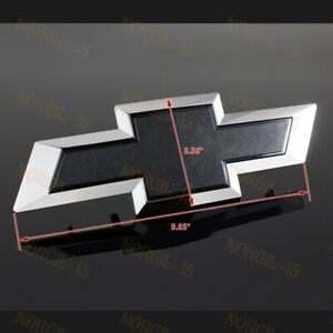 For 2016 2018 Gm Chevy Silverado 1500 Black Front Bowtie Bow Tie Emblem 1pcs