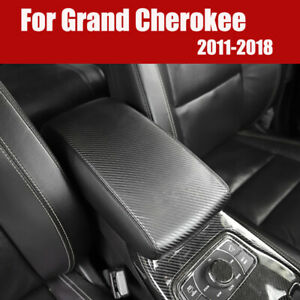 Carbon Fiber Center Console Armrest Pad Cover For Jeep Grand Cherokee 2011 2018