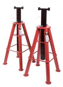 Sunex 1410 10 Ton High Height Pin Type Jack Stands pair
