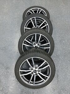 4 Brand New Michelin X ice Tires 245 40 18 Mounted On Used Mustang Rims 5x114 3