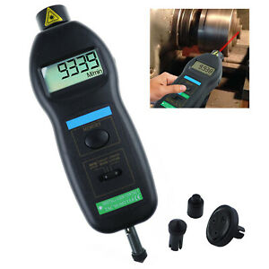2 In 1 Tachometer Laser Contact And Non contact Auto Ranging 0 5 99 999rpm Range