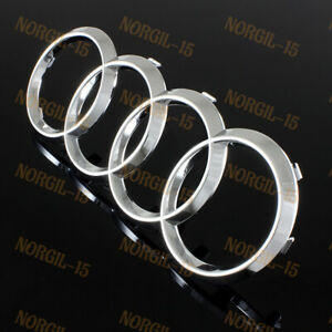 For Audi Rings Chrome Grill Front Hood A3 A4 S4 A5 S5 A6 Sq7 Tt Badge Emblem New