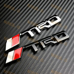 3d Car Front Hood Emblem Badge Decal Jdm Trd Racing For Toyota Frs Supra Mr2