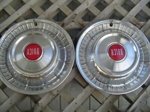 1957 Buick Roadmaster 2 Hubcaps Wheel Covers Center Caps Antique Vintage Classic