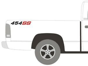 Chevy 454 Ss Bed Vinyl Decal Stickers Set 1990s Chevrolet Trucks