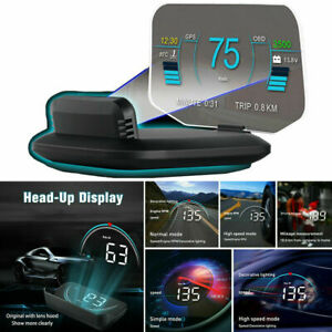 Head Up Display Projector Speed rpm voltage Warning Hud Obd2 Gps Fault Code Scan