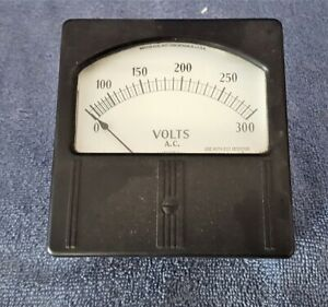 Vintage Nos 4 Weston Electrical Meter 0 300 V Ac 1
