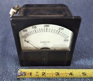 Vintage Nos 4 Weston Electrical Meter 0 300 V Ac 2