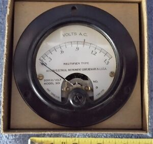 Vintage Nos 3 1 2 Weston Electrical Meter 0 1 5 V Ac