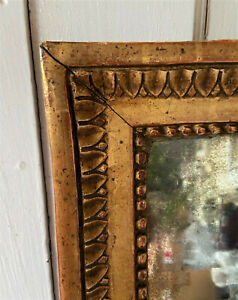 Large Antique Gilt Wood French Mirror In Carved Gold Frame