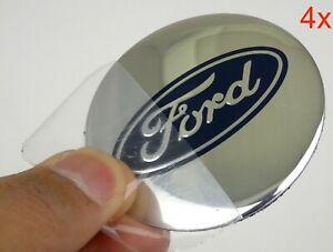 4 Pack Ford Wheel Center Hub Cap Sticker Decal 2 20 Dome Shape Silver