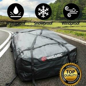 Wisamic 30 Cubic Feet Car Top Waterproof Roof Cargo Bag Soft Luggage Carriers