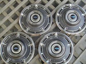 1965 Chevrolet Chevy Belair Impala Biscayne Nomad Hubcaps Wheel Covers Vintage