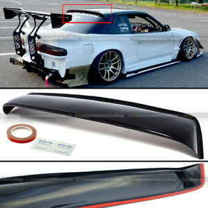 Fit 89 94 240sx S13 Coupe Rear Window Roof Sun Rain Shade Vent Visor Spoiler