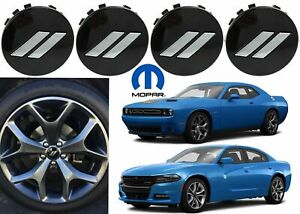 Oem Mopar 6cz27dx8aa Set Of 4 Gloss Black Center Caps Dodge Challenger Charger