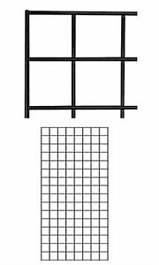 Wire Grid Panel 2 X 4 Black Retail Display Craft Gridwall Double Wire Sides