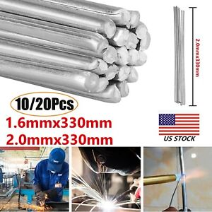10 20pcs Durafix Aluminium Welding Rod Brazing Soldering Low Temperature 1 6 2mm