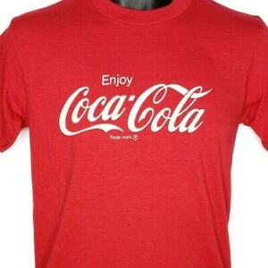 Coca Cola T Shirt Vintage 80s Soda Coke Single Stitch 50/50 Made In USA Medium