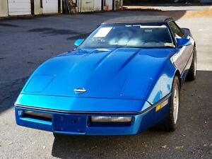 1985 1991 Corvette C4 Factory Hood Blue Complete Great Cond 39k No Headlights