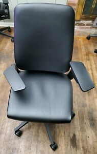 Steelcase Gesture Chair Fully Loaded With Black Leather