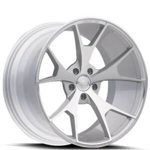 4 20 Staggered Concept One Wheels Csm5 Concave Silver Rims b3