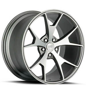 4 20 Staggered Concept One Wheels Csm5 Concave Gunmetal Rims b3