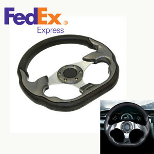 1pc 320mm Deep Dish Spoke Steering Wheel For 6 Hole Adapter Racing Car Modified