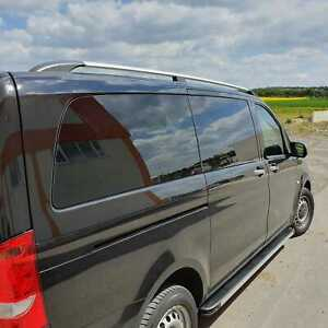 Roof Rack Side Rail Bar Gray For Mercedes Vito viano Short 2003 up